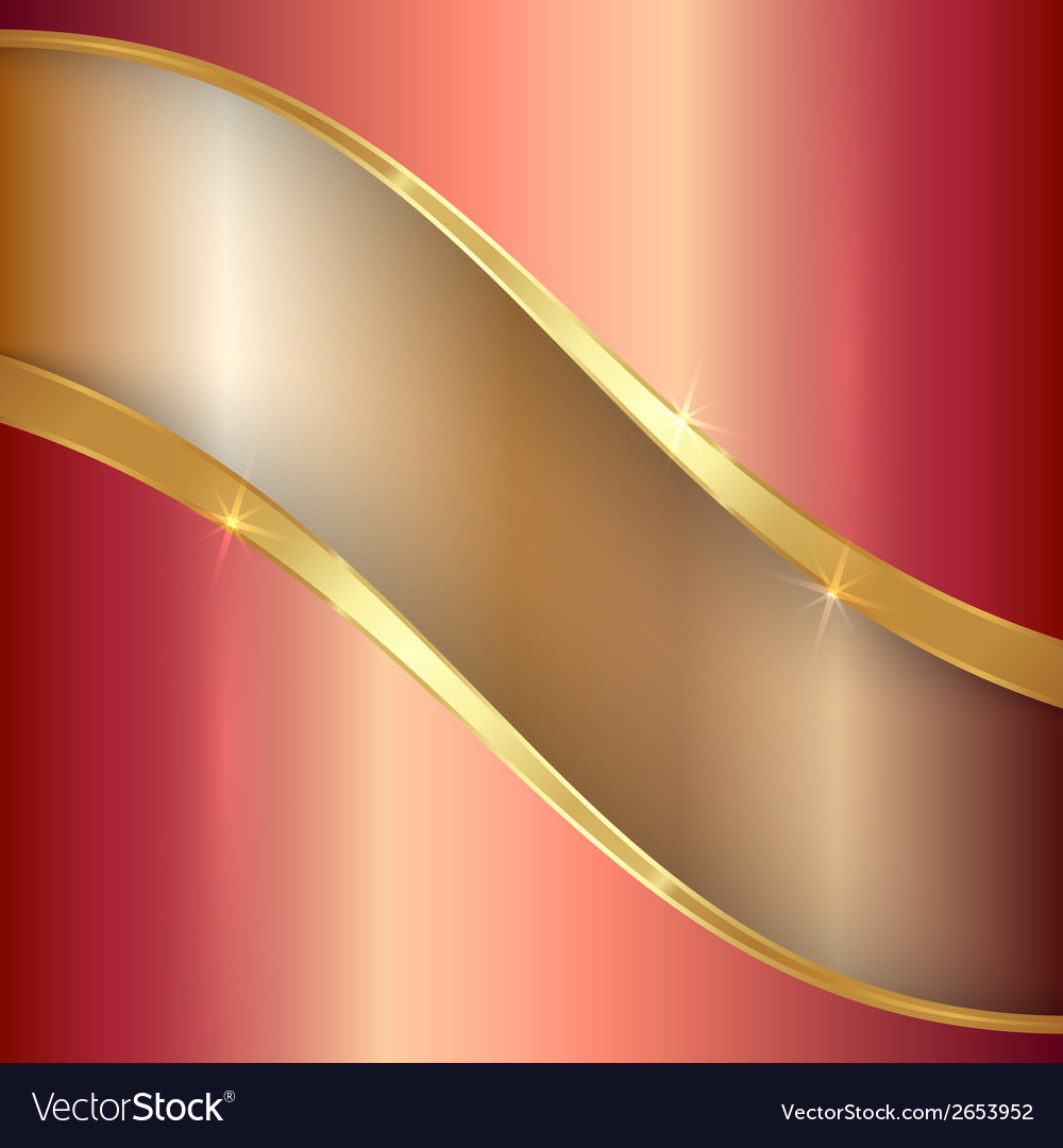 Abstract precious metallic background with curves vector | Price: 1 Credit (USD $1)
