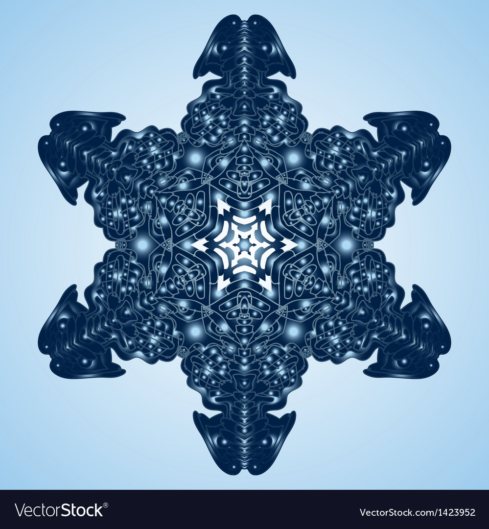 Beautiful blue snowflake vector | Price: 1 Credit (USD $1)