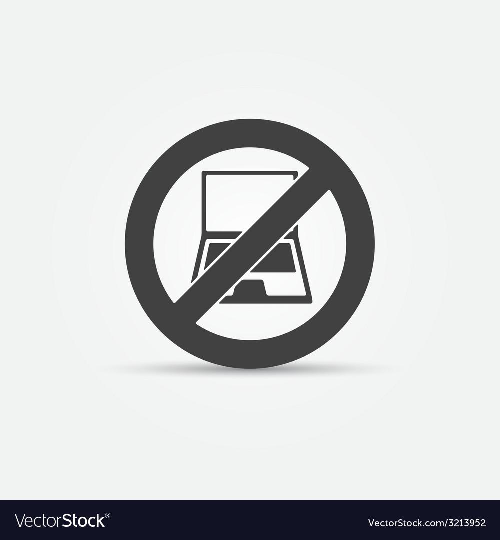 No computers black sign vector | Price: 1 Credit (USD $1)