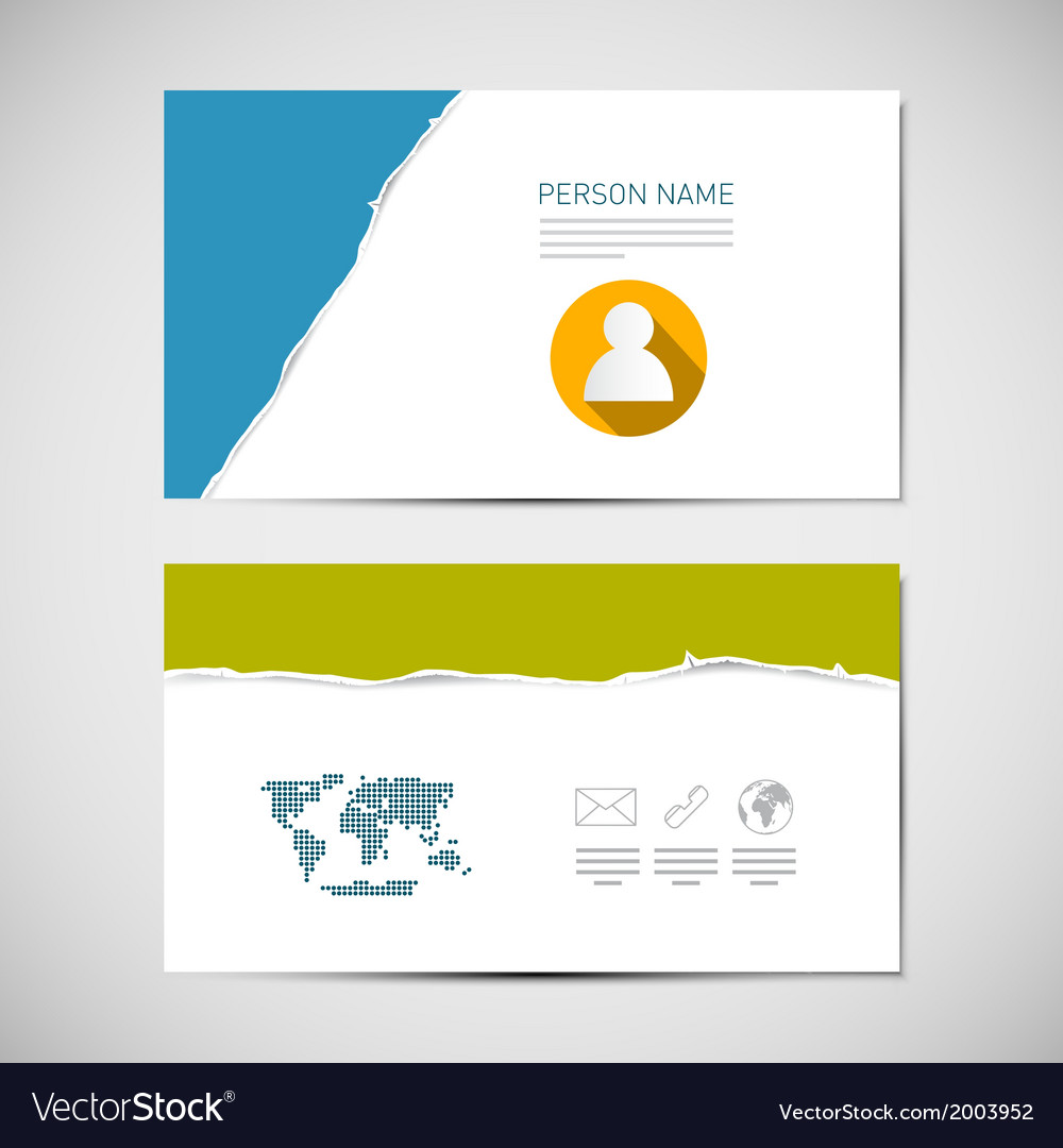 Paper business card template vector | Price: 1 Credit (USD $1)