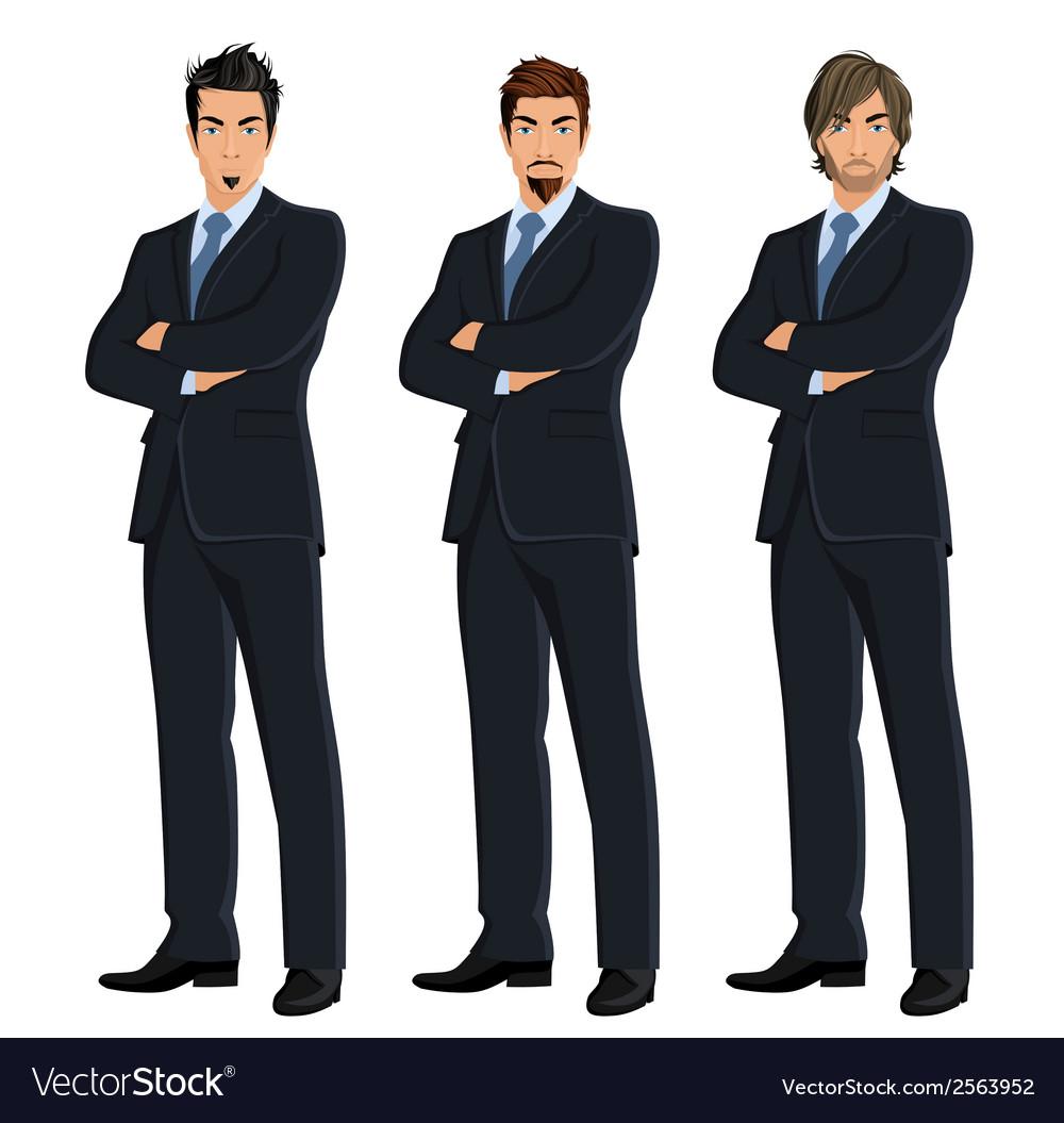 Set of business men vector | Price: 1 Credit (USD $1)