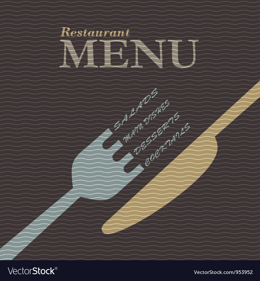 Stylish restaurant menu design vector | Price: 1 Credit (USD $1)