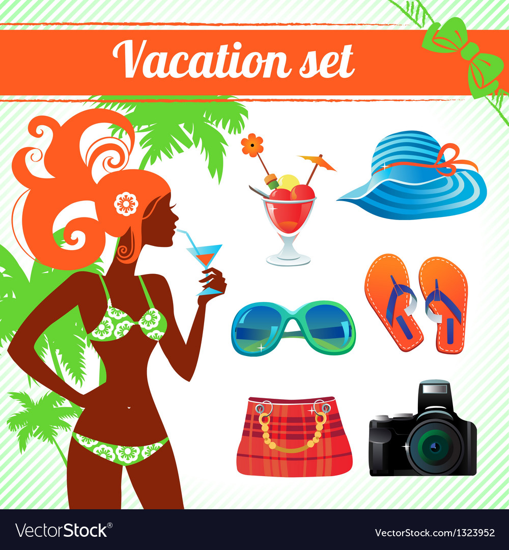 Vacation and travel icon set infographics vector | Price: 3 Credit (USD $3)