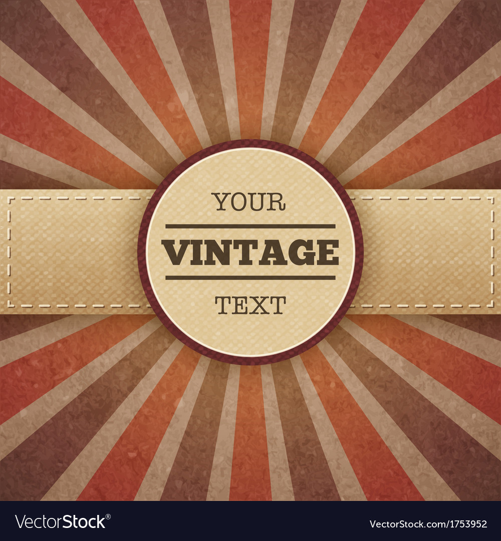 Vintage sunburst promo poster vector | Price: 1 Credit (USD $1)