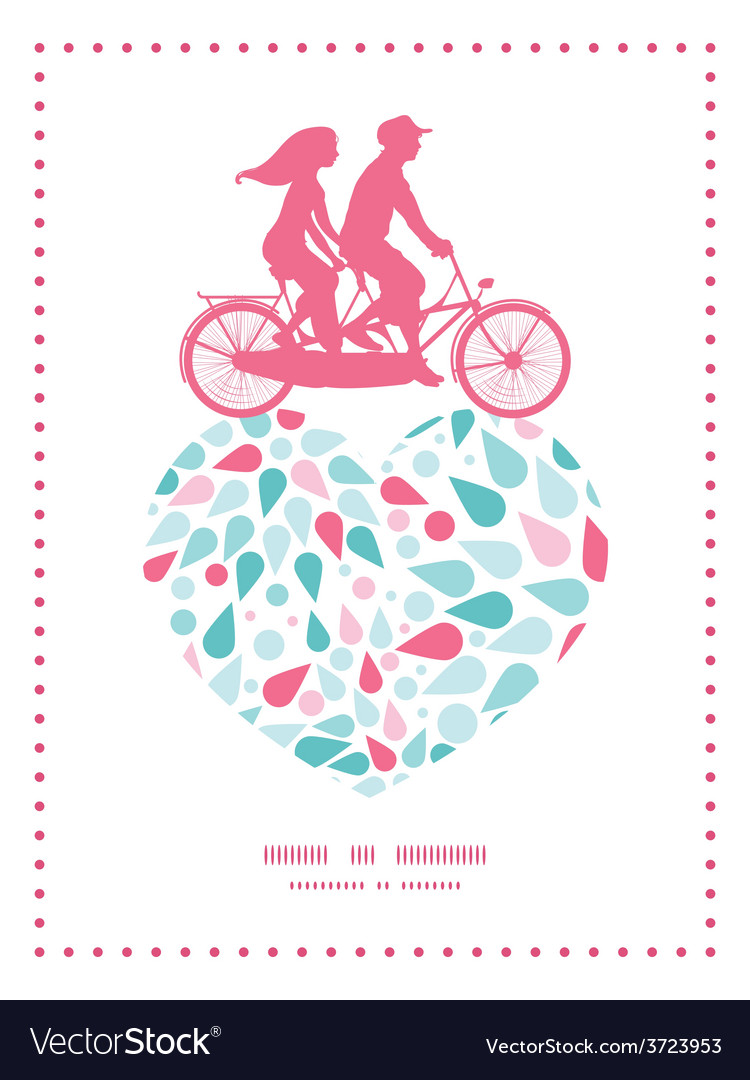 Abstract colorful drops couple on tandem vector | Price: 1 Credit (USD $1)