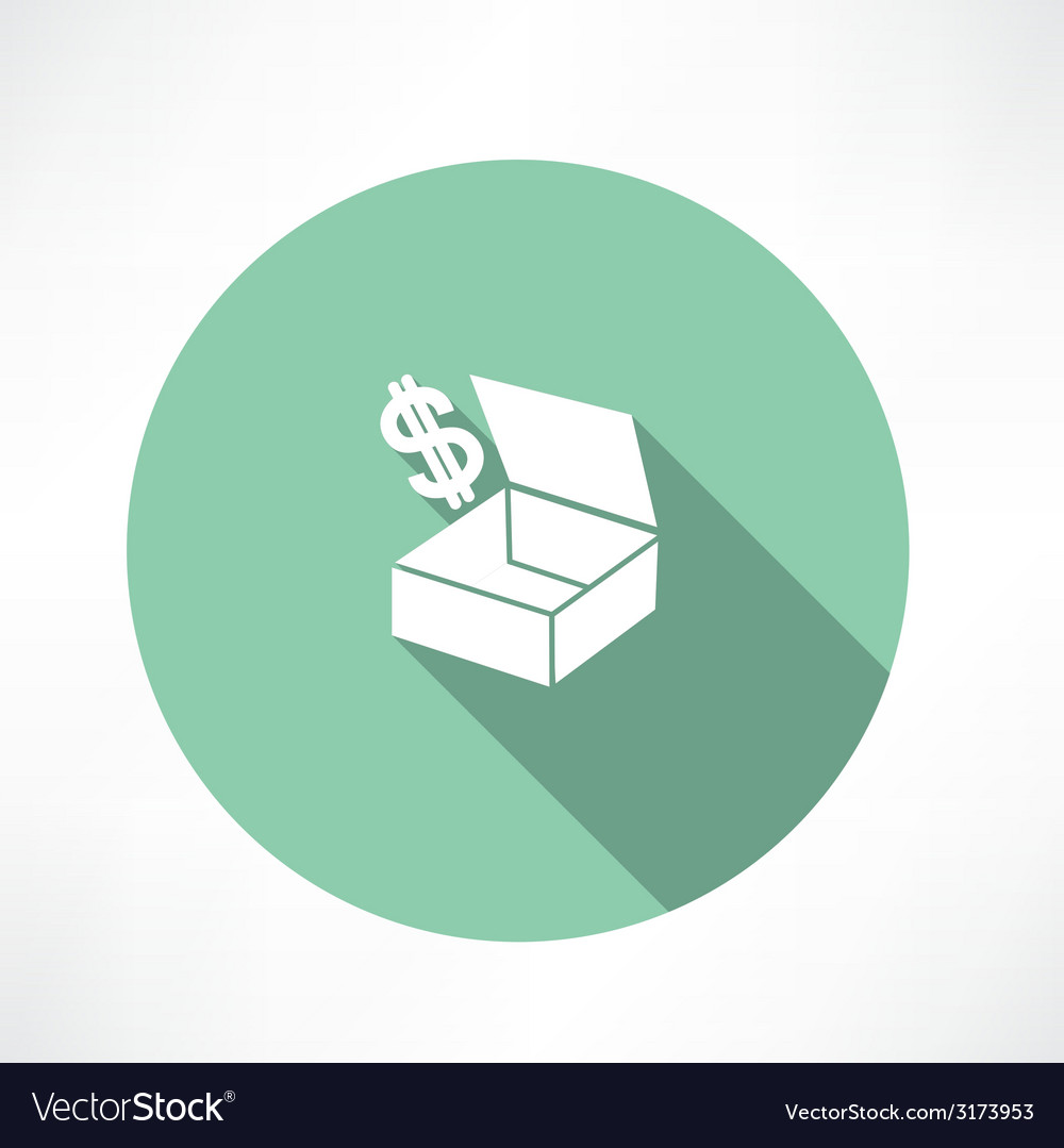 Box with dollars vector | Price: 1 Credit (USD $1)