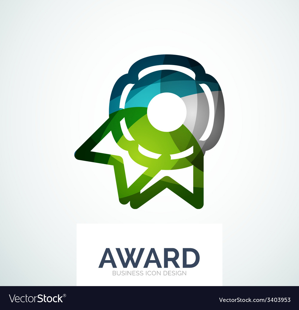 Colorful award business logo vector | Price: 1 Credit (USD $1)