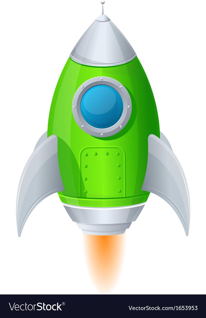 Comic cartoon rocket space ship vector   Price: 1 Credit (USD $1)