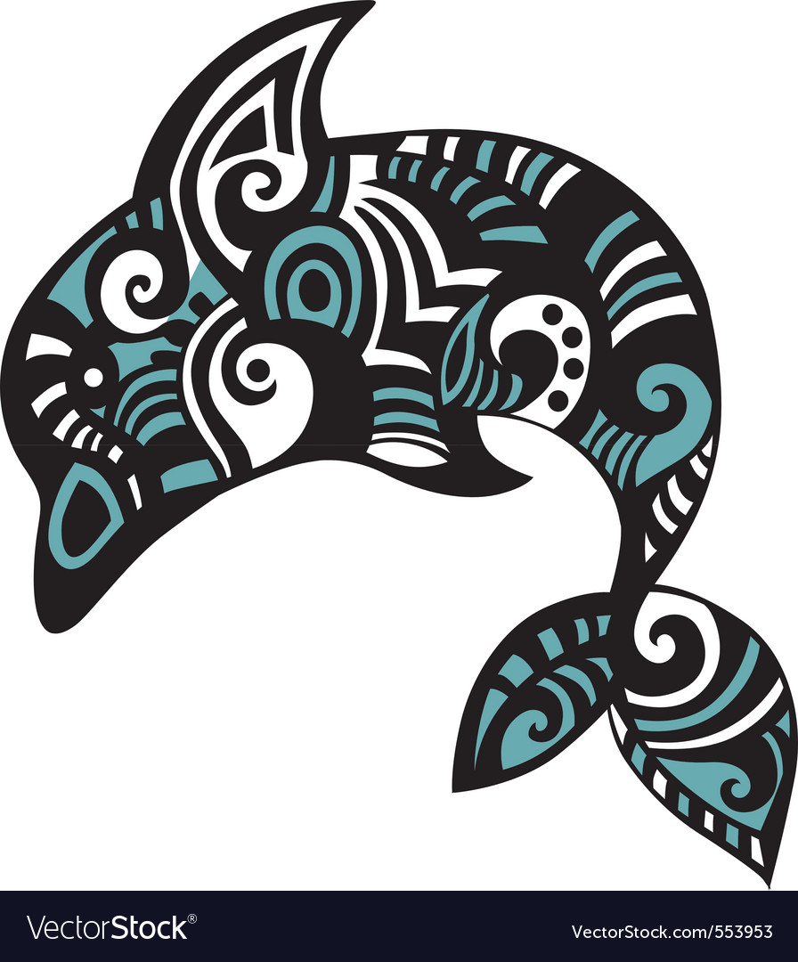 Dolphin art vector | Price: 1 Credit (USD $1)