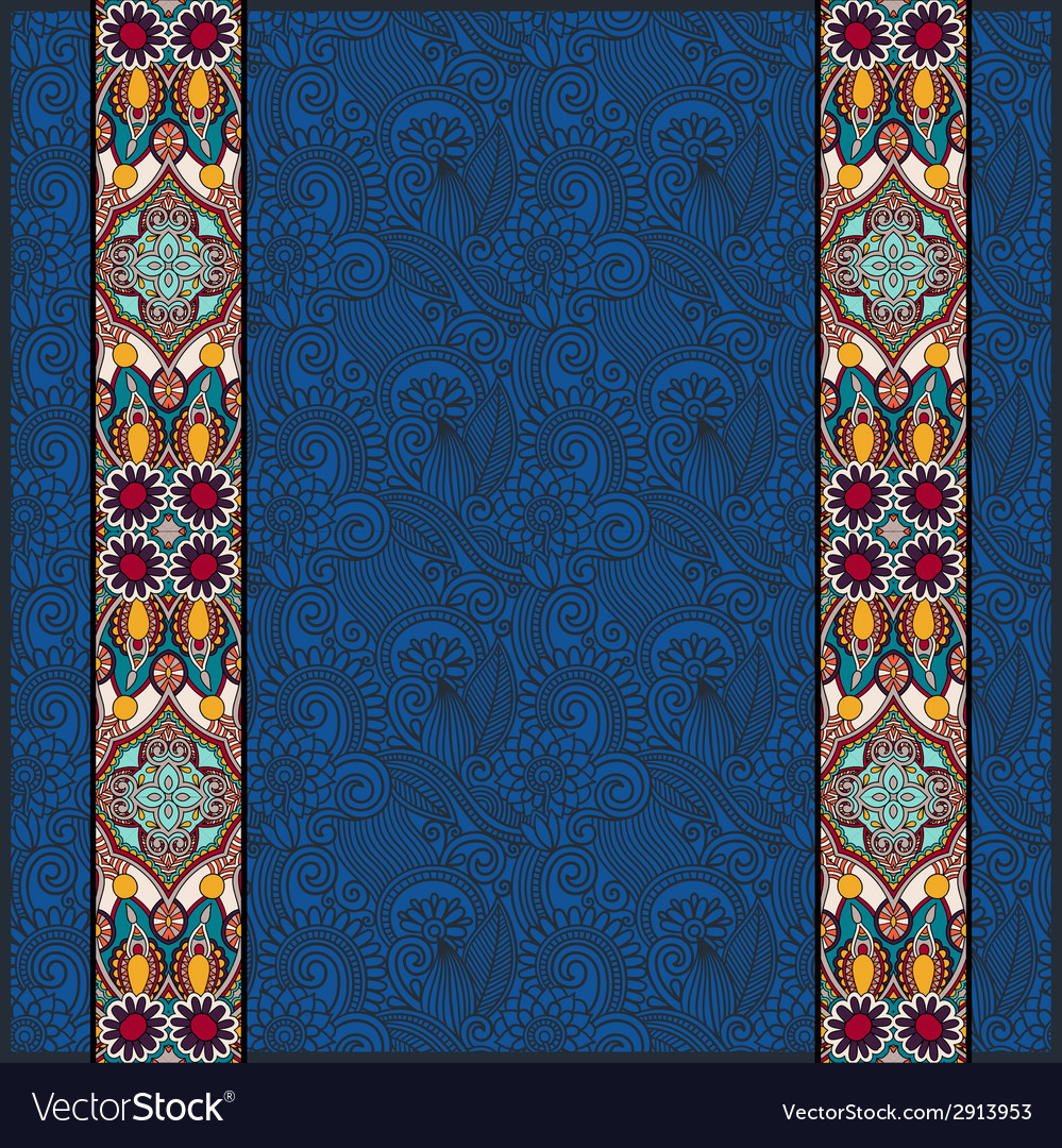 Lace border stripe in ornate floral background vector   Price: 1 Credit (USD $1)