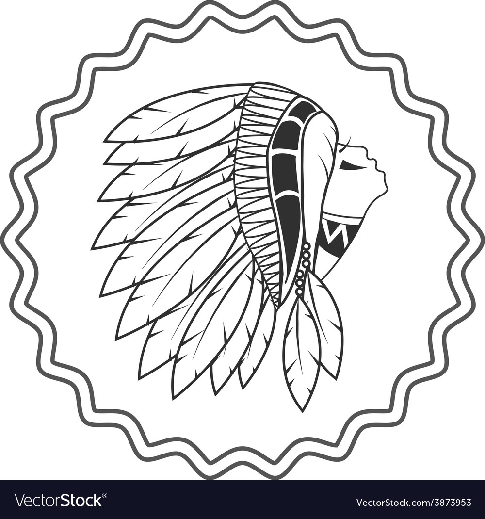 Native american artwork and vintage pictures vector | Price: 1 Credit (USD $1)