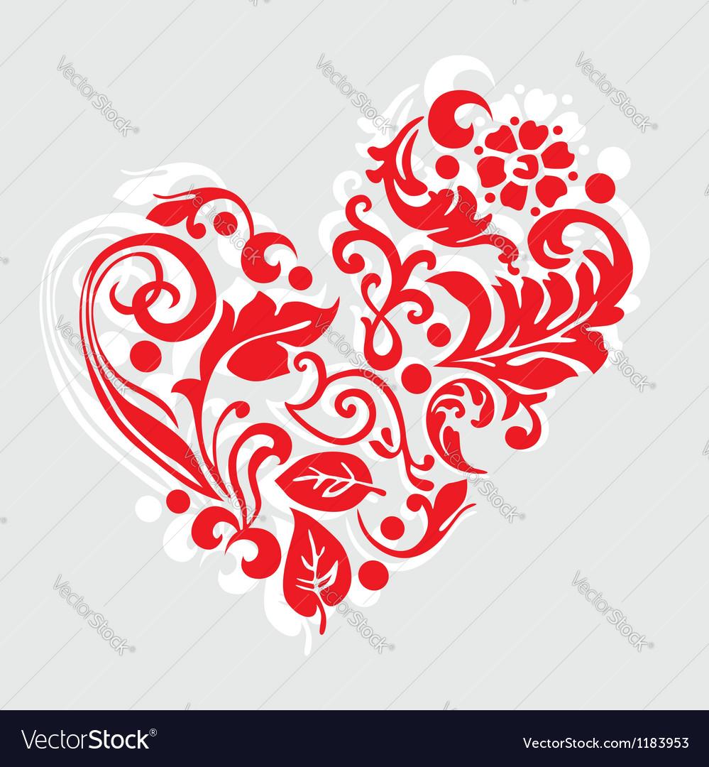 Ornate heart vector | Price: 1 Credit (USD $1)