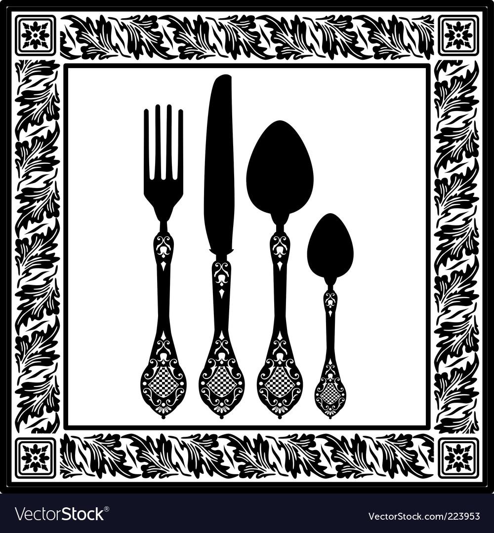 Retro cutlery vector   Price: 1 Credit (USD $1)