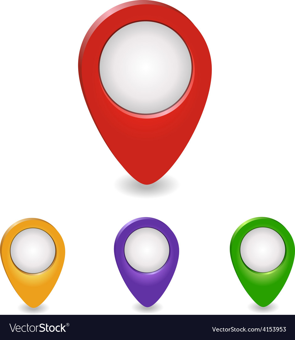 Set of map pointers - vector | Price: 1 Credit (USD $1)