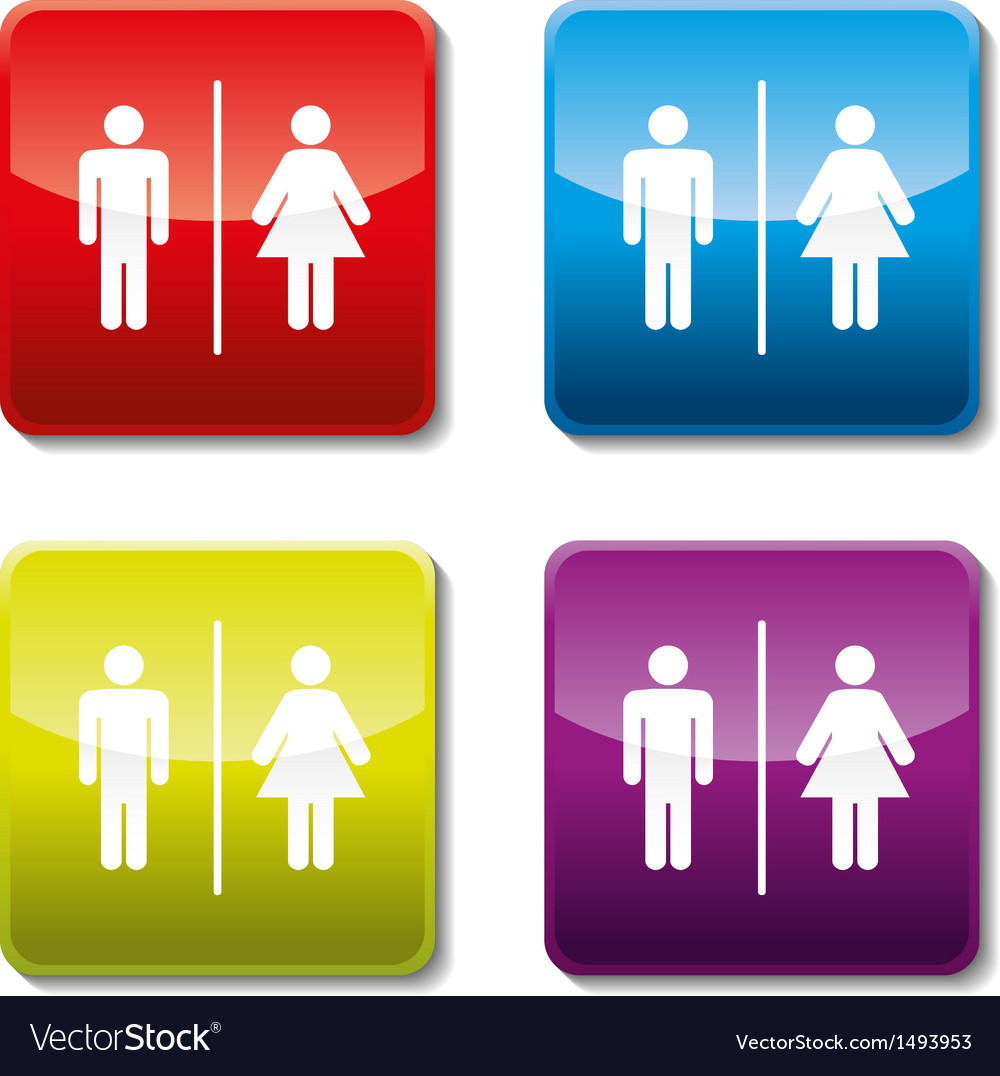Toilet sign vector | Price: 1 Credit (USD $1)
