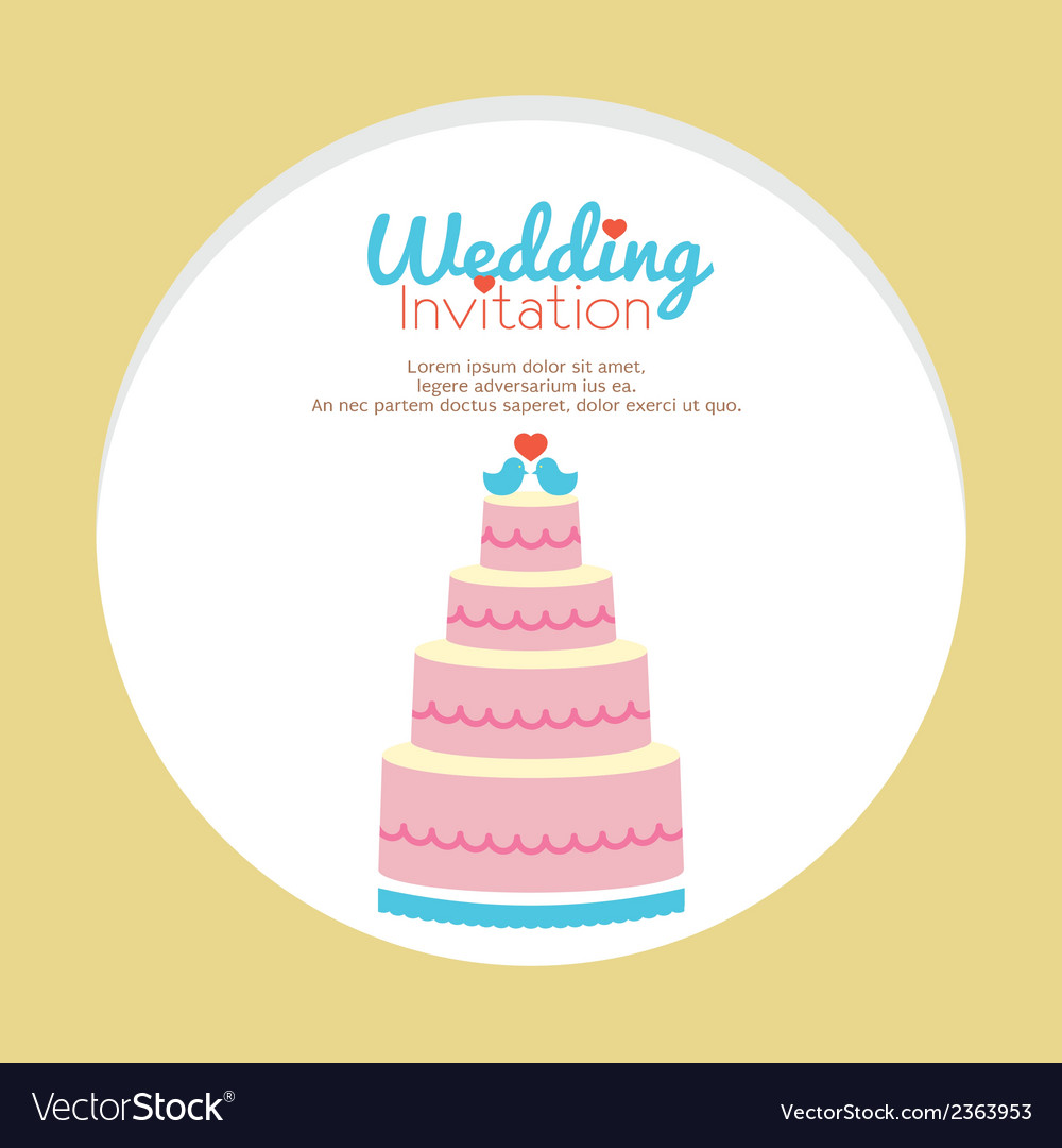 Wedding invitation vector | Price: 1 Credit (USD $1)