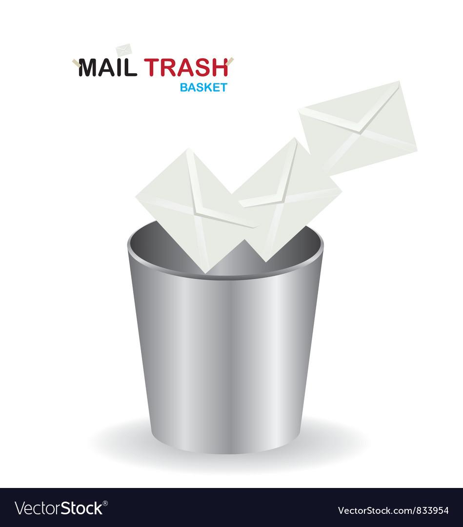Basket mail trash vector | Price: 1 Credit (USD $1)