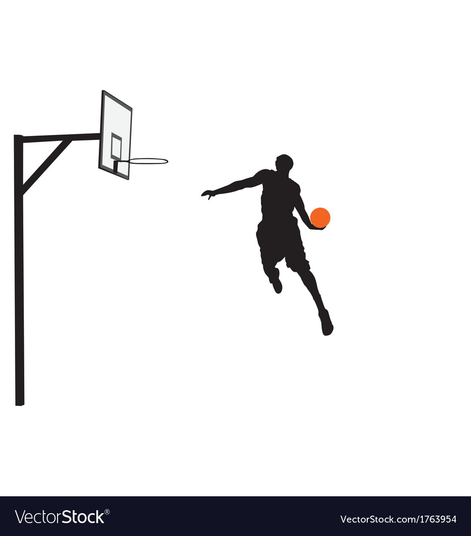 Basketball player slam dunking vector | Price: 1 Credit (USD $1)