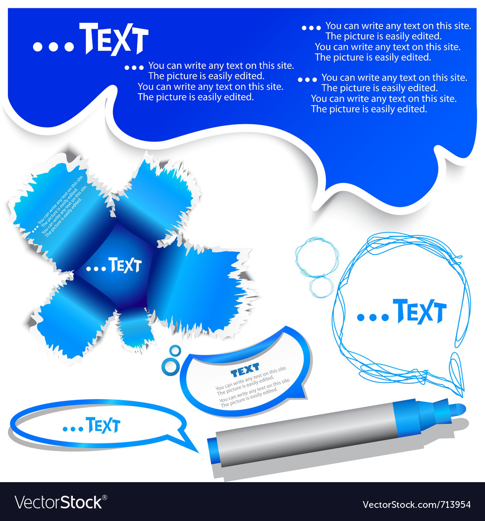 Blue bubble for speech vector | Price: 1 Credit (USD $1)