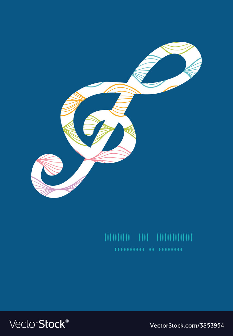 Colorful horizontal ogee gclef musical vector | Price: 1 Credit (USD $1)