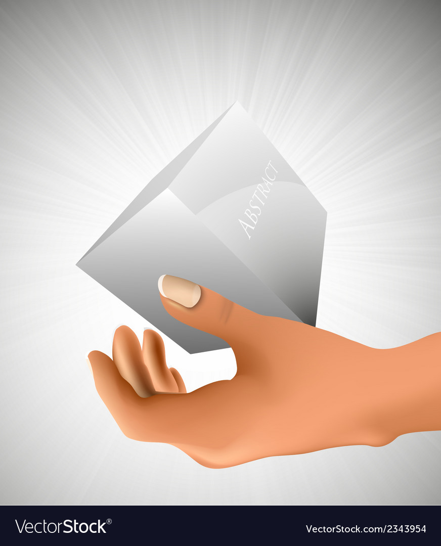 Cube in the palm of your hand vector | Price: 1 Credit (USD $1)