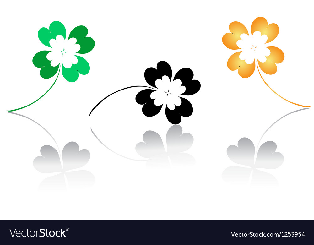 Lucky clovers vector | Price: 1 Credit (USD $1)