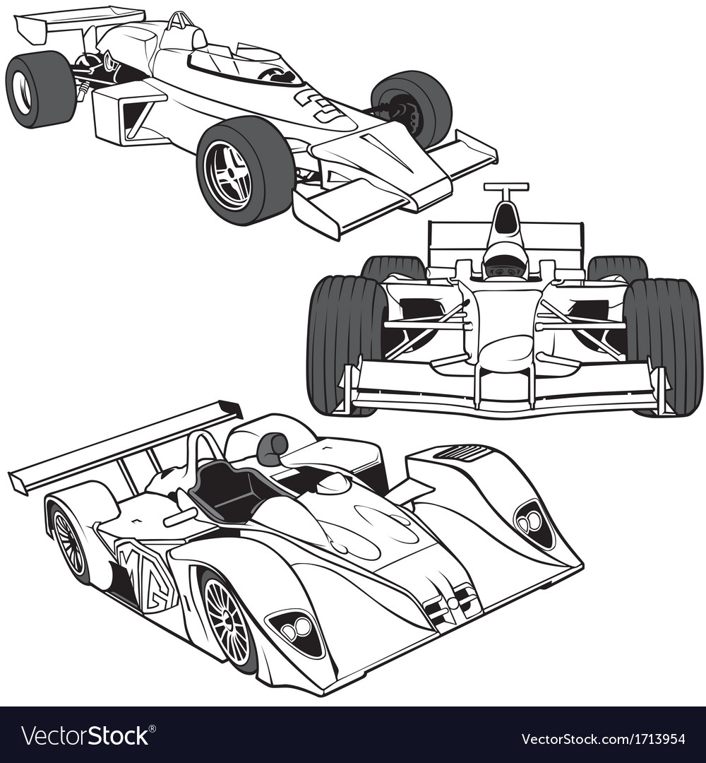 Racing cars vector | Price: 1 Credit (USD $1)