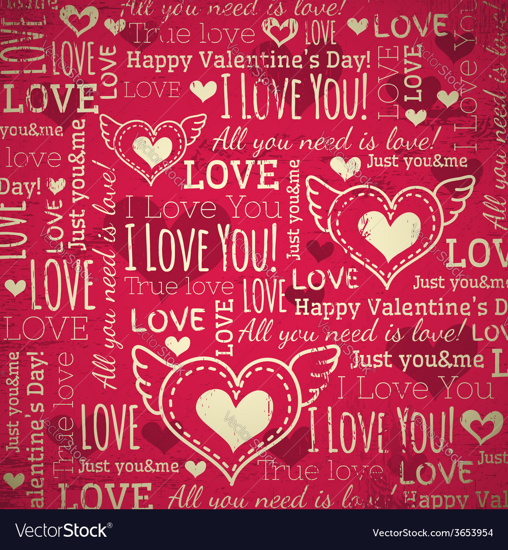 Red background with valentine heart vector | Price: 1 Credit (USD $1)