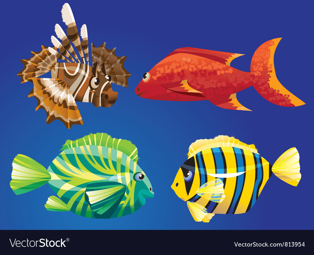 Red sea fishes vector | Price: 3 Credit (USD $3)