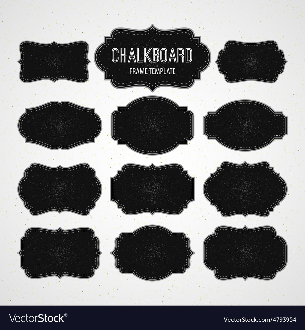 Set of chalkboard frames and labels vector | Price: 1 Credit (USD $1)