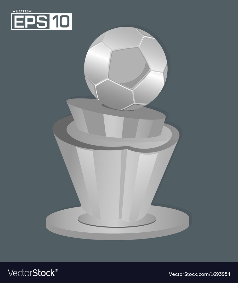 Trophy football background vector | Price: 1 Credit (USD $1)
