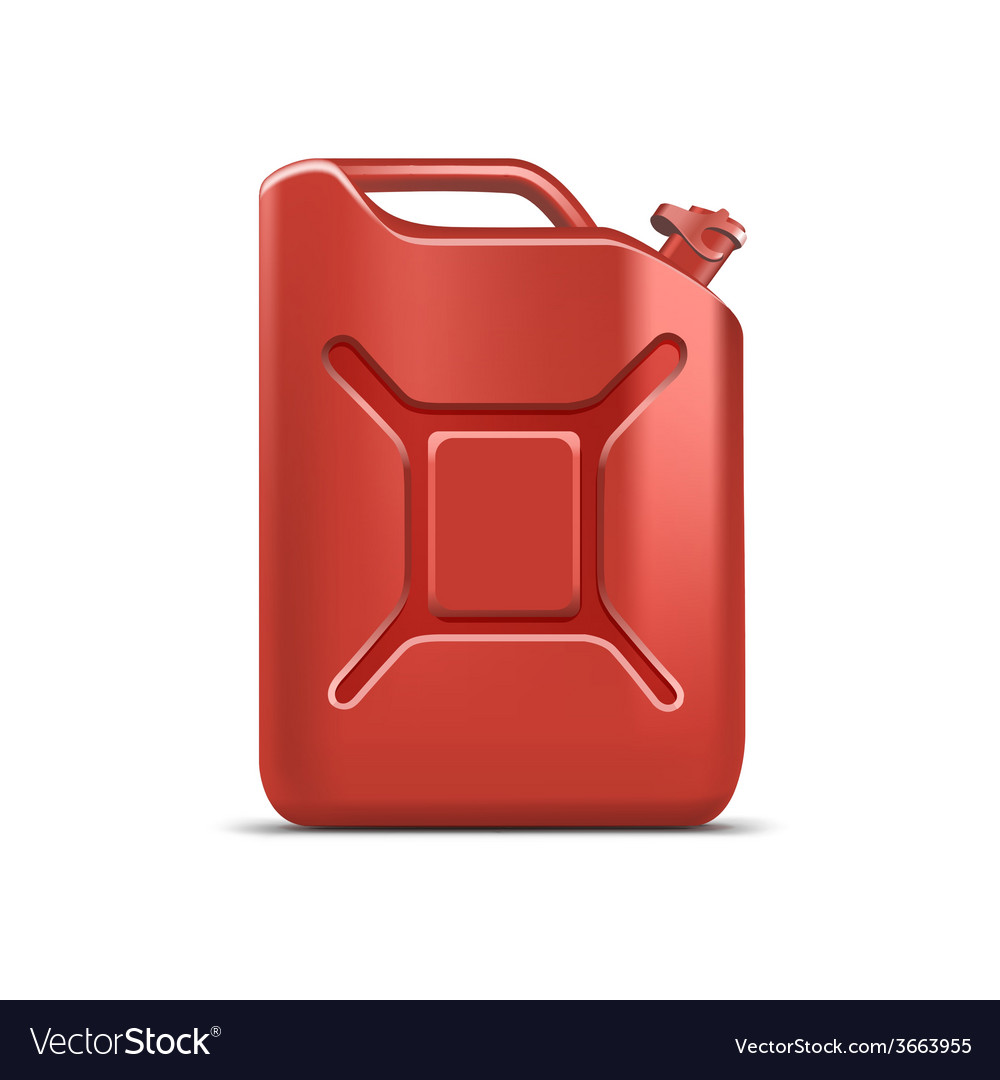 Blank red jerrycan canister gallon oil cleanser vector | Price: 1 Credit (USD $1)