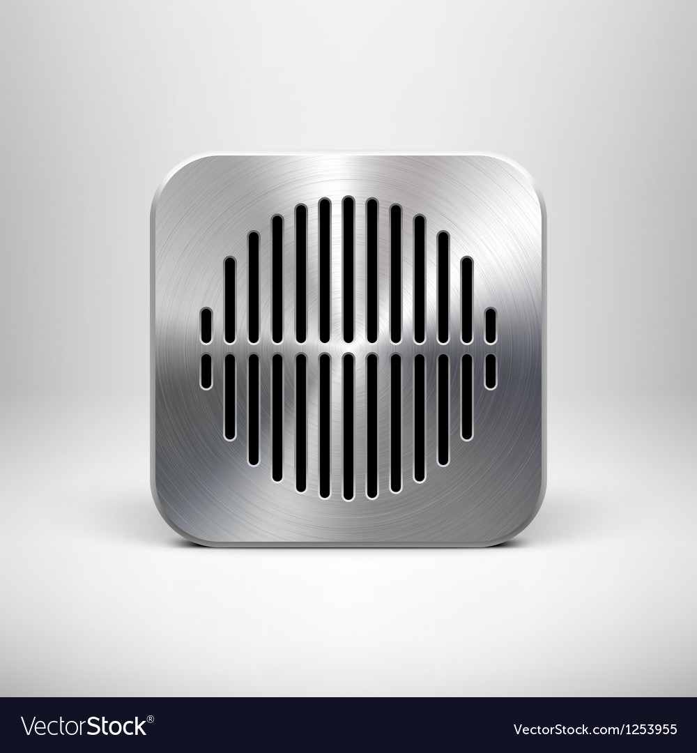 Metallic speaker icon vector | Price: 1 Credit (USD $1)