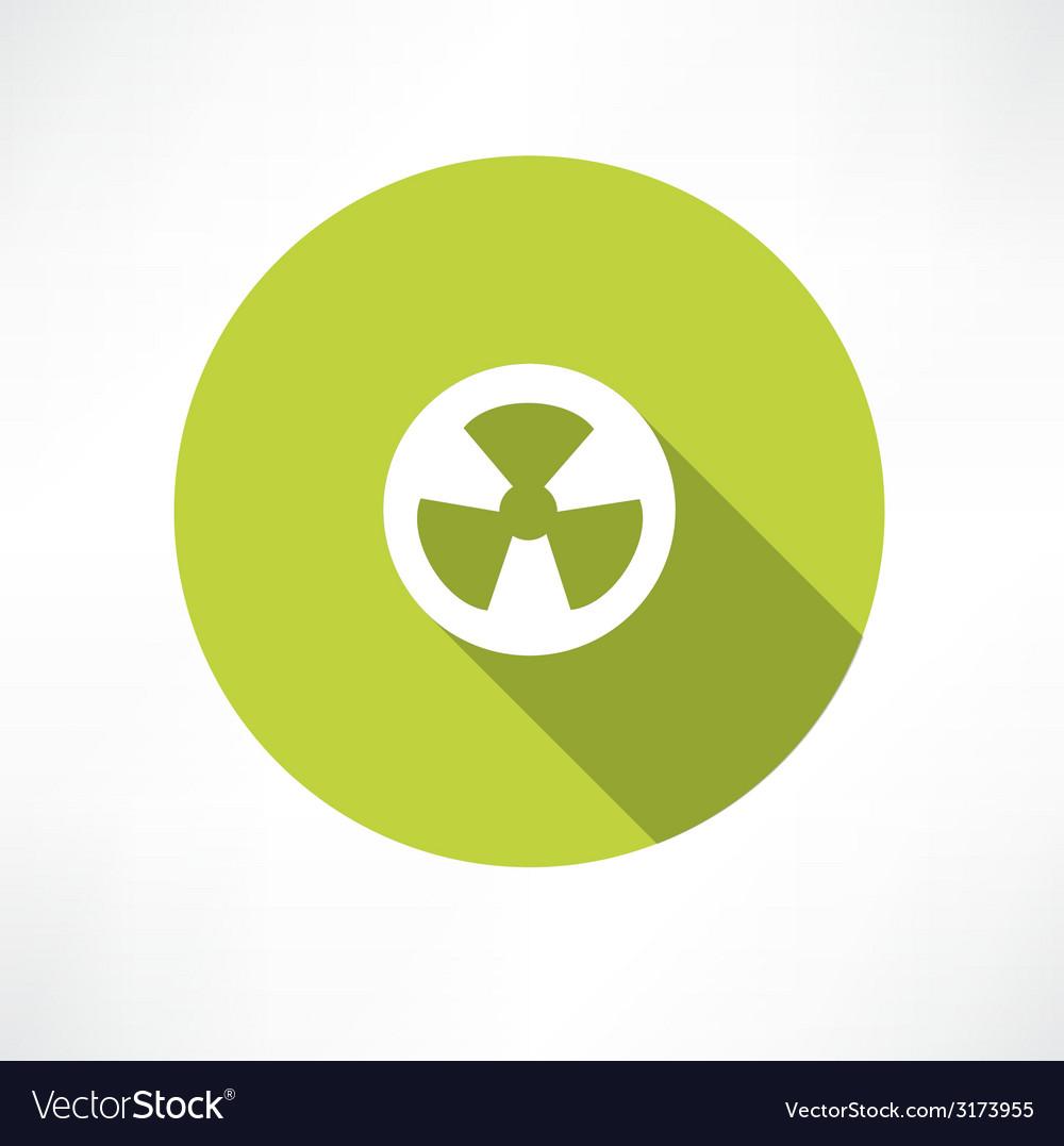 Radioactive icon vector | Price: 1 Credit (USD $1)