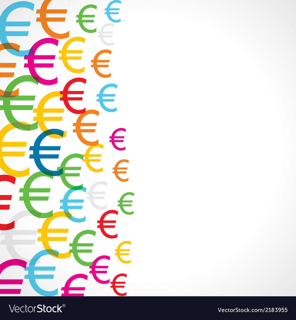 Seamless pattern background of euro symbols vector | Price: 1 Credit (USD $1)