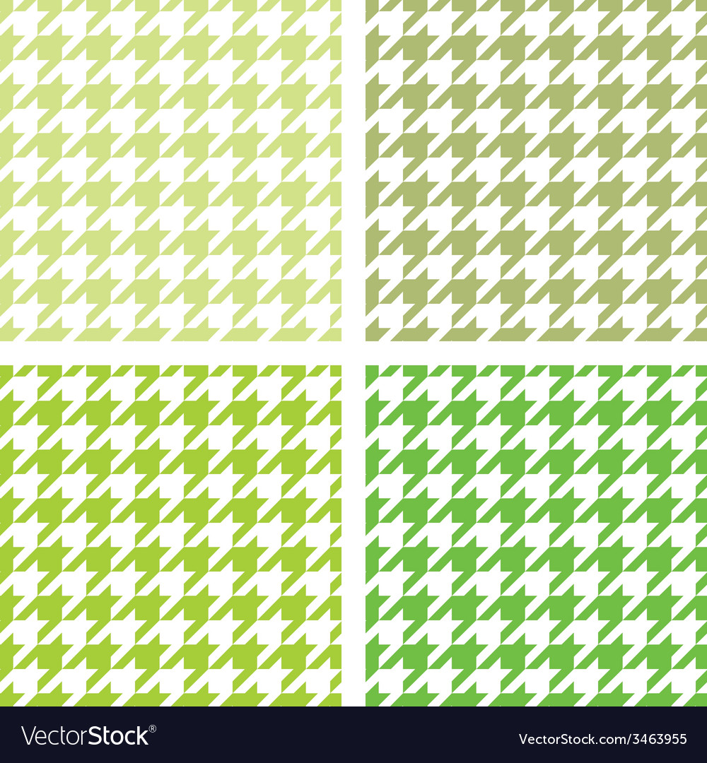 Tile green houndstooth background set vector | Price: 1 Credit (USD $1)
