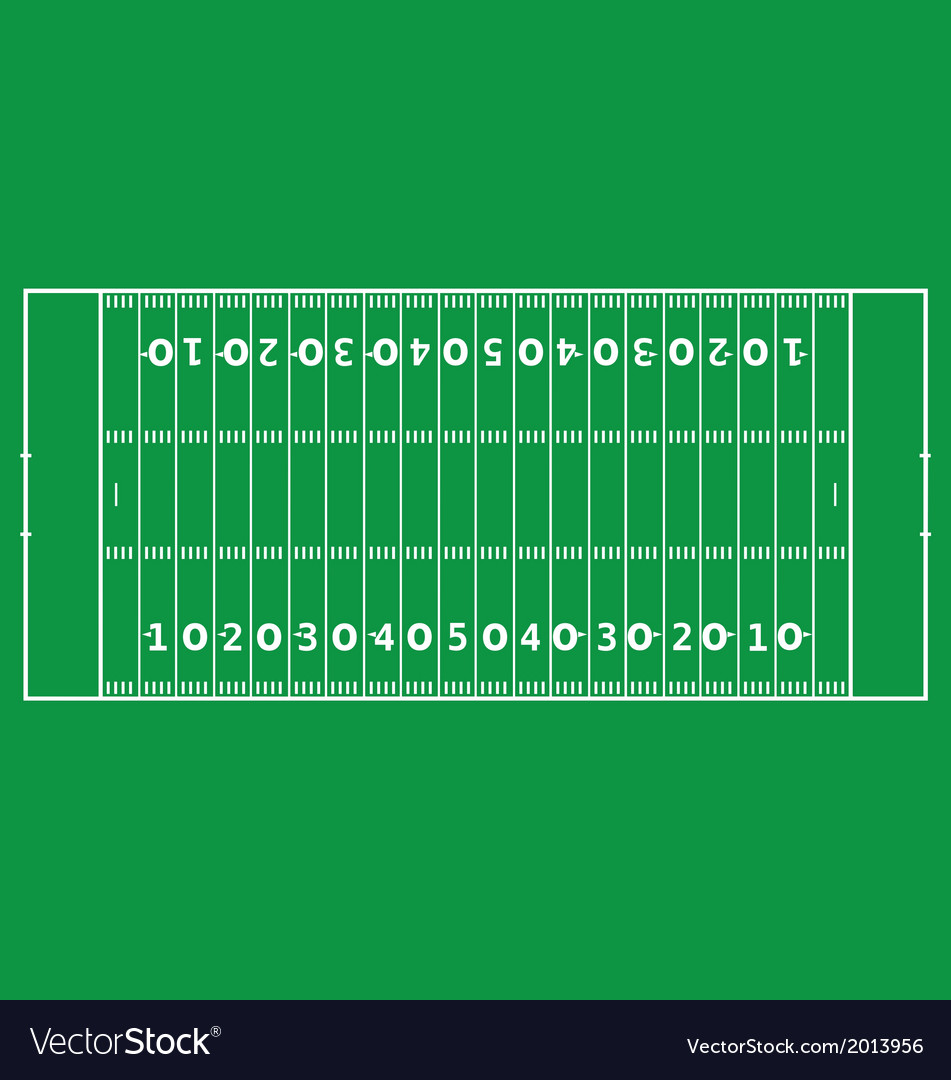 American football pitch vector | Price: 1 Credit (USD $1)