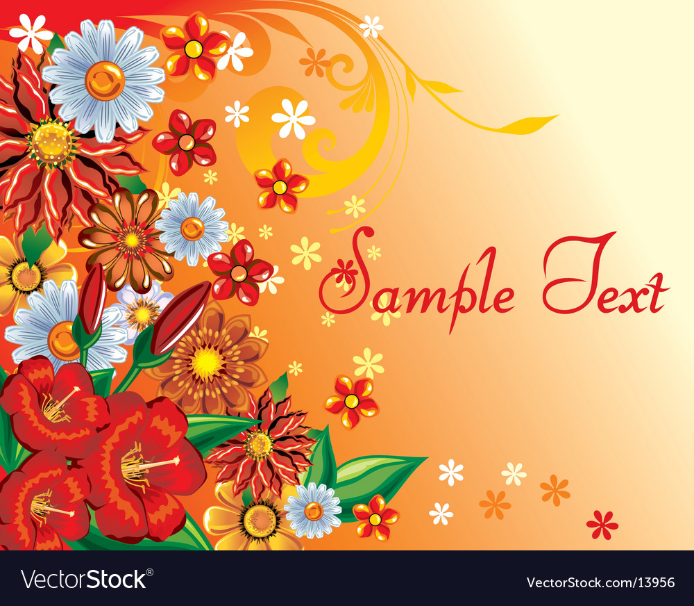 Floral background template vector | Price: 1 Credit (USD $1)