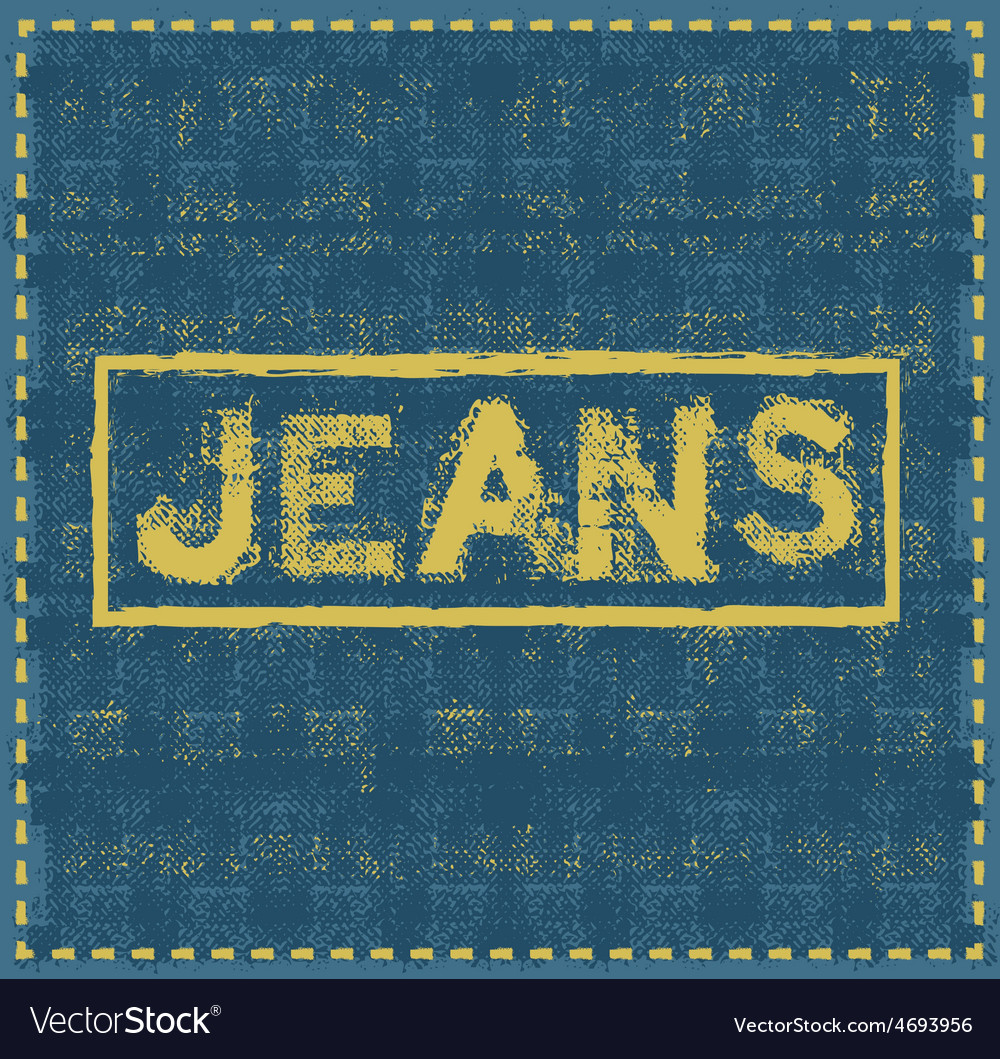 Jeans grunge background design template vector | Price: 1 Credit (USD $1)