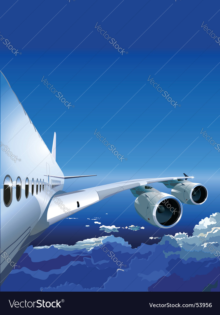 Jet cruising in the sky vector | Price: 3 Credit (USD $3)