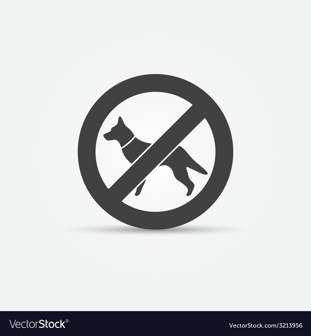 No dog sign vector | Price: 1 Credit (USD $1)
