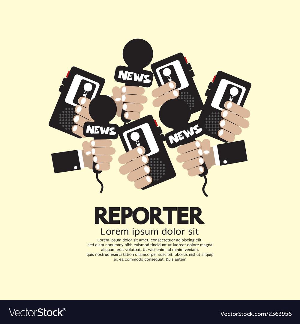 Reporter concept vector | Price: 1 Credit (USD $1)