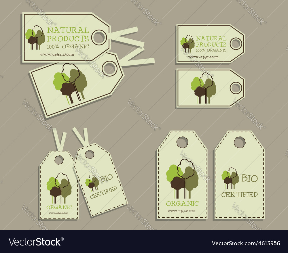 Set of organic labels for natural products vector | Price: 1 Credit (USD $1)