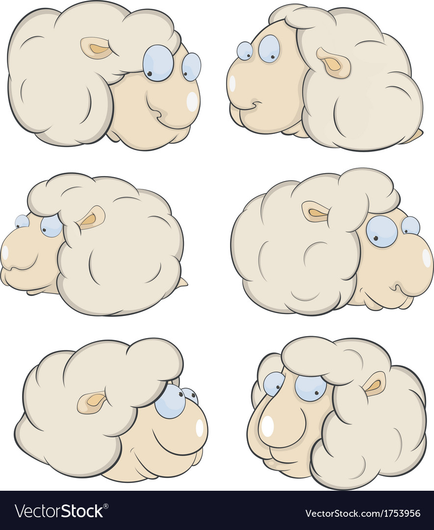 Sheep clouds cartoon vector | Price: 1 Credit (USD $1)