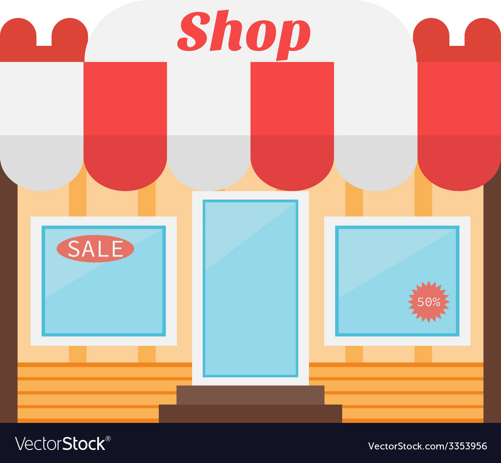 Shop icon made in flat design vector | Price: 1 Credit (USD $1)