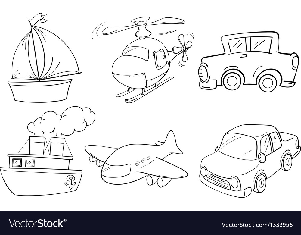 Silhouettes of the different transportations vector | Price: 1 Credit (USD $1)