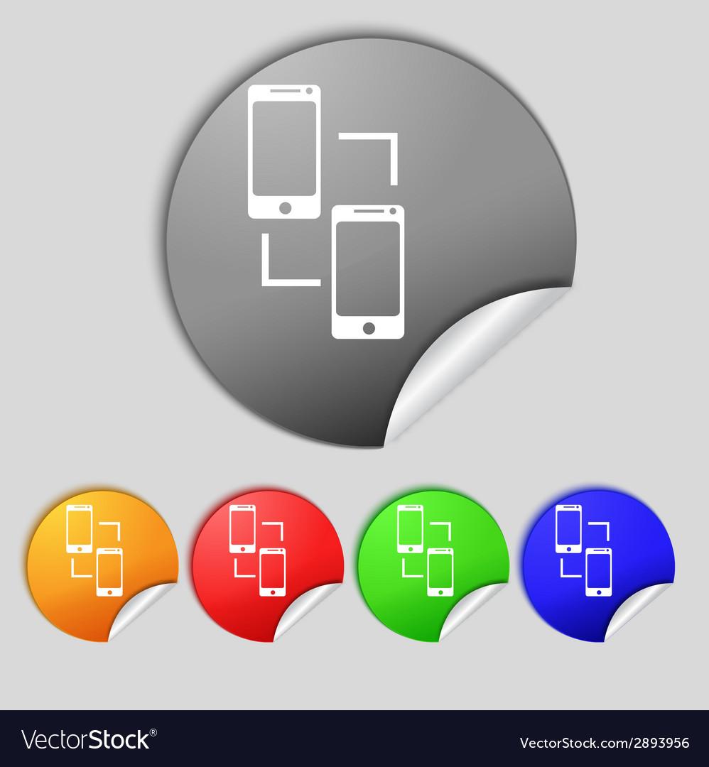 Synchronization sign icon smartphones sync symbol vector | Price: 1 Credit (USD $1)