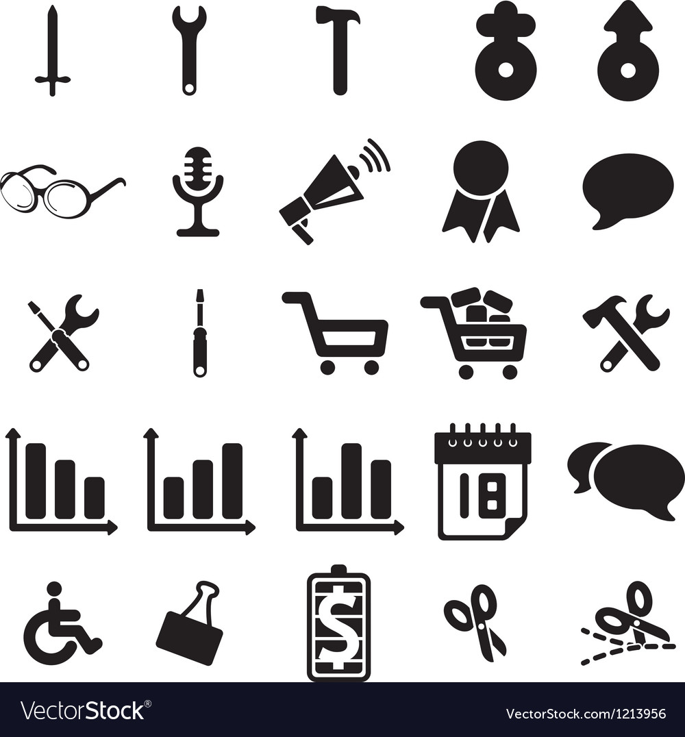 Universal web icons vector | Price: 1 Credit (USD $1)