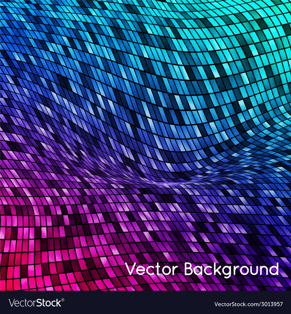 Abstract grid rainbow background vector | Price: 1 Credit (USD $1)