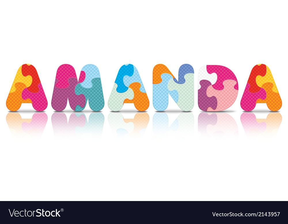 Amanda written with alphabet puzzle vector | Price: 1 Credit (USD $1)